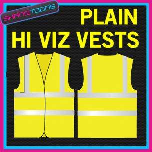 x100 WORK WEAR YELLOW / ORANGE PLAIN HI VIZ VEST VESTS ADULTS SIZES BULK BUY